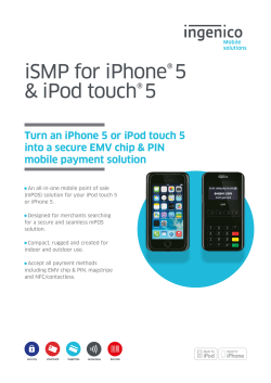 iSMP for iPhone®5 & iPod touch®5