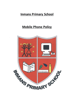 Inmans Primary School Mobile Phone Policy