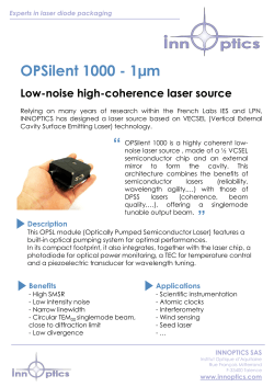 OPSilent 1000 - 1µm Low-noise high-coherence laser
