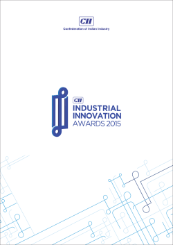 Brochure - CII Industrial Innovation Awards