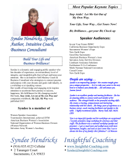 Syndee Hendricks Insightful Coaching