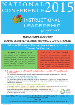 NATIONAL - Instructional Leadership