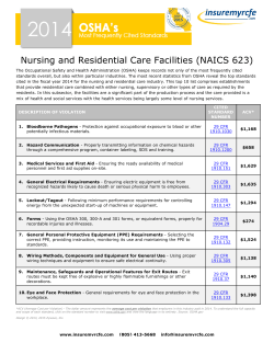 Most Frequently Cited OSHA Standards Nursing