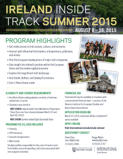 IRELAND INSIDE TRACK SUMMER 2015