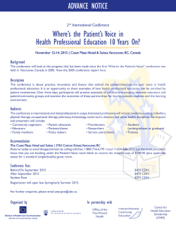 Where`s the Patient`s Voice in Health Professional Education 10