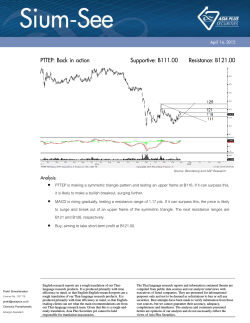 PTTEP: Back in action Supportive: B111.00 Resistance: B121