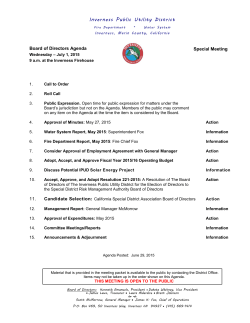 Current Agenda - Inverness Public Utility District