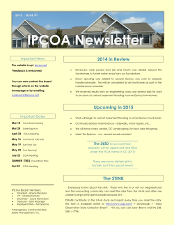 COA News - Volume 1 Issue 2015-03