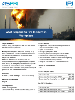 WSQ Respond to Fire Incident in Workplace
