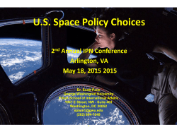 U.S. Space Policy Choices