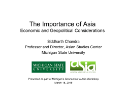 The Importance of Asia - Michigan State University