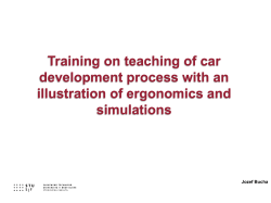 Presentation Training on teaching of car development