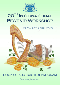 IPW2015 Book of Abstracts - 20th International Pectinid Workshop