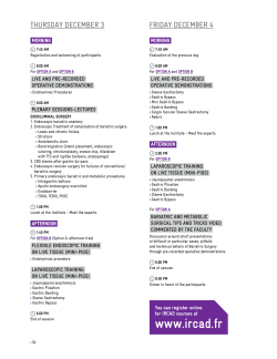 course programme - Minimally invasive surgery training