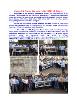 Demands & Protest Day observed by IRTSA NE Railway