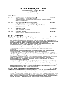 Curriculum Vitae - Industrial and Systems Engineering