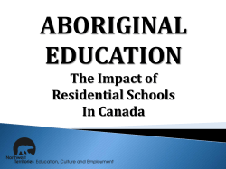 The Impact of Residential Schools In Canada