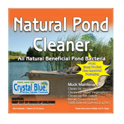 Natural Pond Cleaner Front Fstyle bottle label
