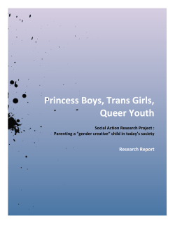 Princess Boys, Trans Girls, Queer Youth