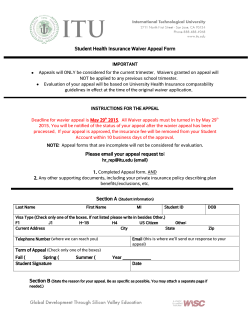 Student Health Insurance Waiver Appeal Form Please