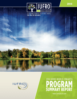 SUMMARY REPORT - IUFRO 2014 World Congress