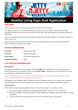 Healthy Living Expo Stall Application