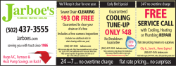 cooling tune-up only $48