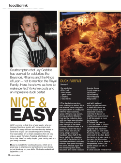 Article Page One - Jay Geddes Chef