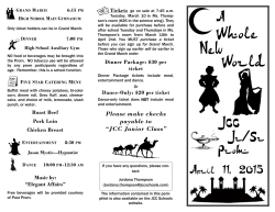 JCC Prom Flyer - Jackson County Central High School