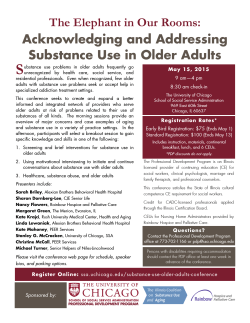Older Adult and Addiction Conference