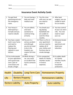 Insurance Event Activity Cards Health Disability Long