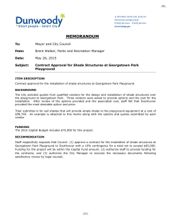 Approval for Shade Structures at Georgetown Park Playground
