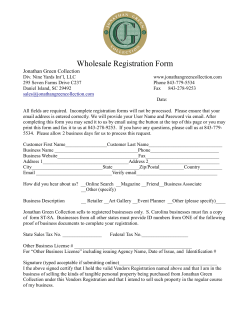 Wholesale Registration Form - The Jonathan Green Collection