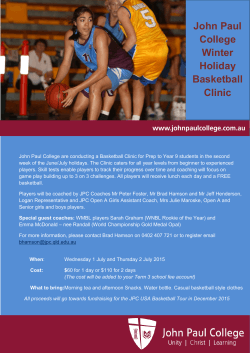 John Paul College Winter Holiday Basketball Clinic