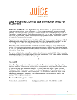 Full Press Release from Juice Worldwide