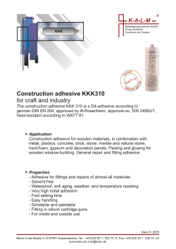 Construction adhesive KKK310 for craft and industry