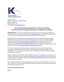 Kane County Planning Cooperative receives grant funding from the