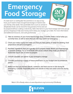 20-to-Ready - Emergency Food Storage
