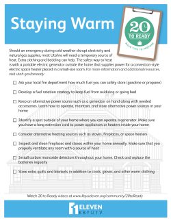20-to-Ready - Staying Warm