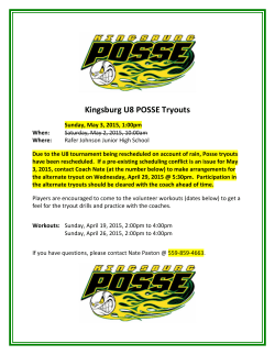Kingsburg U8 POSSE Tryouts