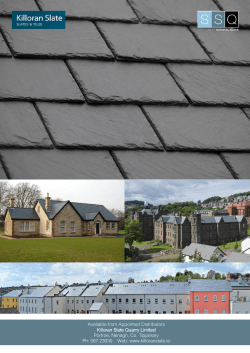 Roofing Slate - Killoran Slate & Tiles