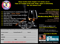 Cigar Nite Flyer 2015