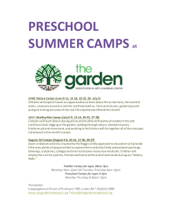 Summer Camps 2015 Flyer - Kinder Musik With Ellen