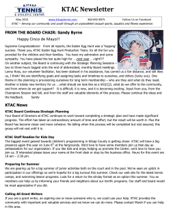 Newsletter May 2015 - Kitsap Tennis & Athletic Center