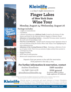 Finger Lakes Wine Tour