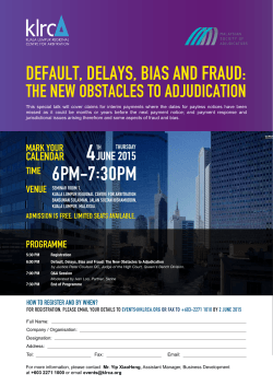6PM-7:30PM DEFAULT, DELAYS, BIAS AND FRAUD: