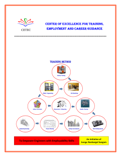 center of excellence for training, employment and career guidance