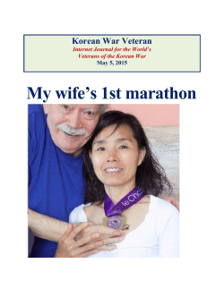 May 05, 2015 MY WIFE`S FIRST MARATHON
