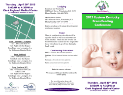 2015 Eastern Kentucky Breastfeeding Conference