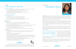 My Vocation Story